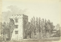 The keep of the ancient St Loe mansion at Newton